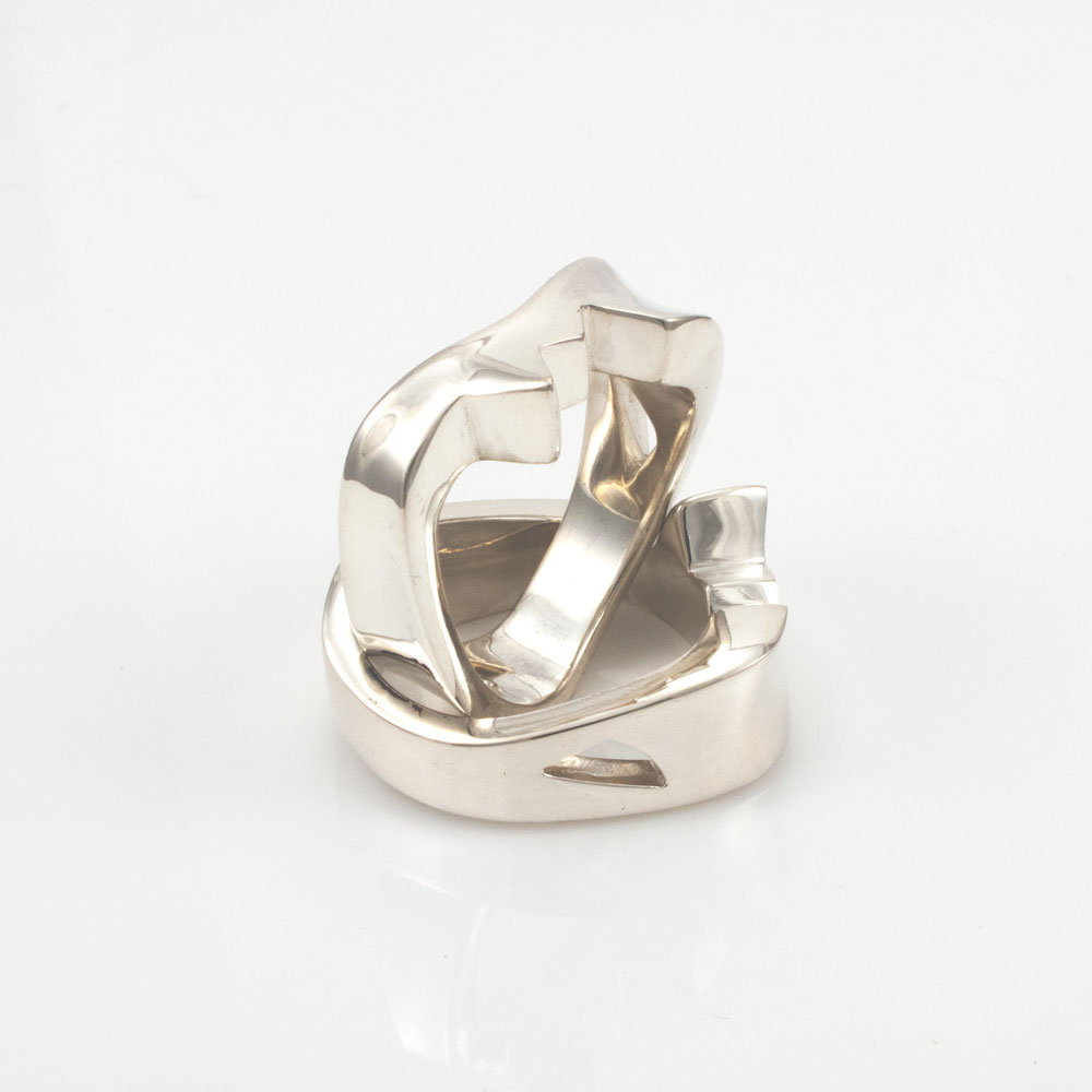 Shapeshifter ring sterling silver